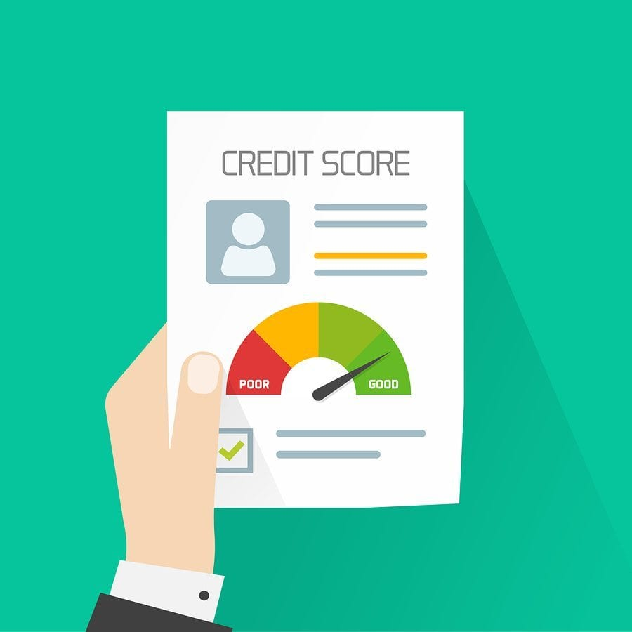 image showing a credit score chart